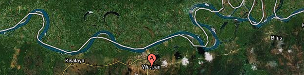 Waspam, Nicaragua. Courtesy of Google Earth